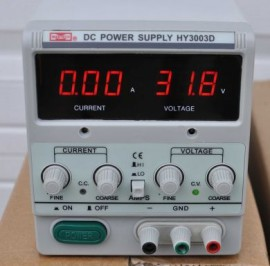 REGULATED VARIABLE LINEAR DC POWER SUPPLY HY3003D 30V 3A New Model